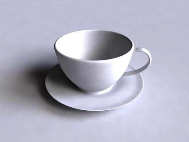 Чайный сервиз в 3d max
