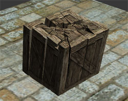 создаем разрушение ящика с помощью плагина RayFire