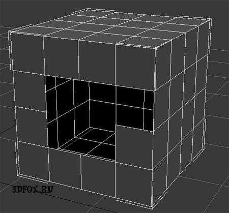 Модель Box без нескольких полигонов