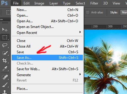 Как в фотошопе сохранить в формате jpg