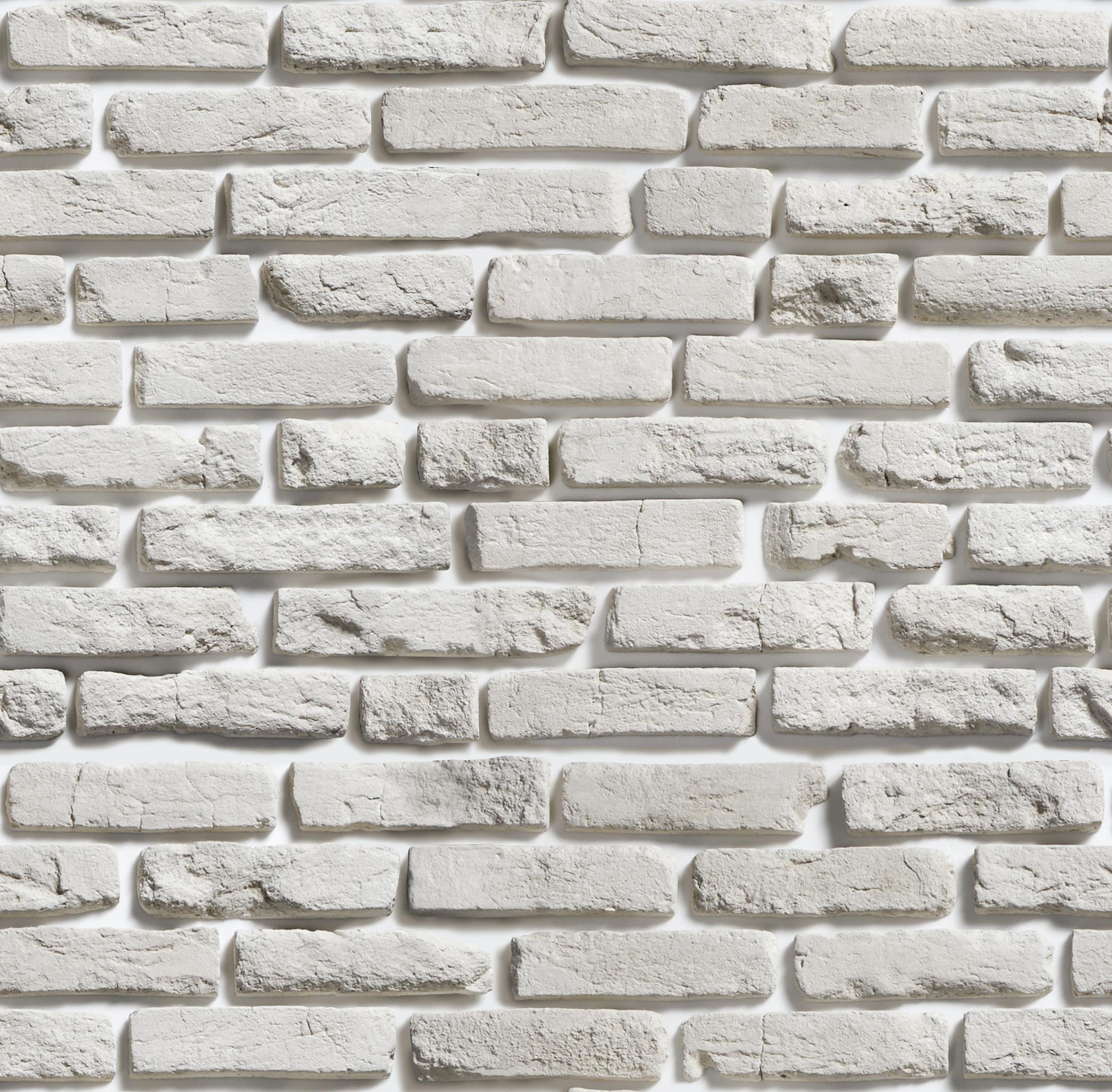 Белый декоративный кирпич фото