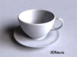 Урок - чайный сервиз в 3d max