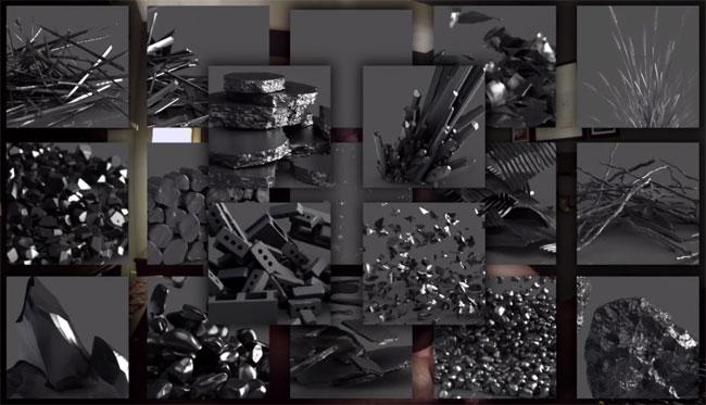 DebrisMarket 2 - пример создания различных элементов в 3d max