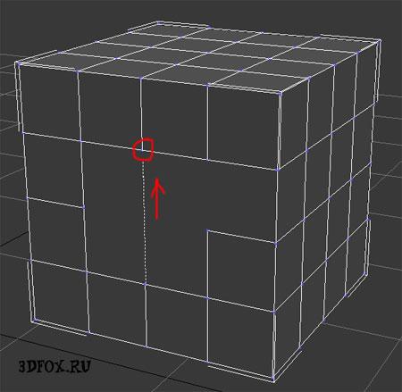 рисуем сетку полигонов 3d max