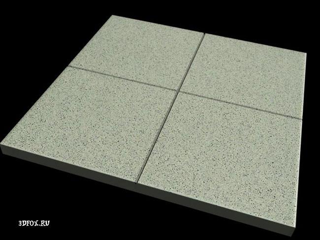 Полученный результат плитки в 3d max