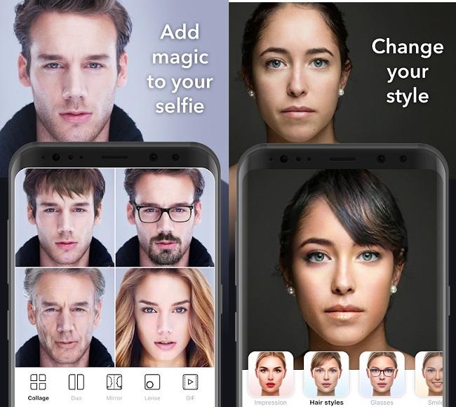 Faceapp меняет прическу и цвет волос, пол и возраст