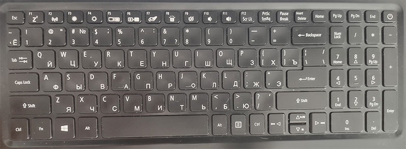 пример клавиатуры для Sketchup