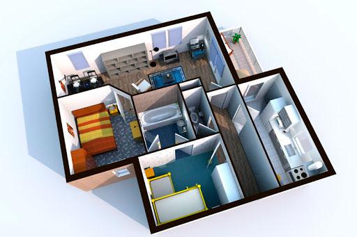 Пример моделирования планировки дома